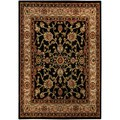 Floral Garden Traditional Black Area Rug (8'2 x 9'10)