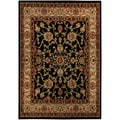 "Floral Garden Traditional Black 8'2"" x 9'10"" Area Rug Ephesus Collection"