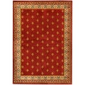 "Red French Border 8'2"" x 9'10"" Area Rug Ephesus Collection"