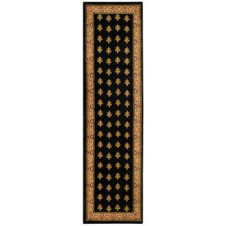 Ephesus Collection Black French Border Runner Rug (1'10 x 6'10)