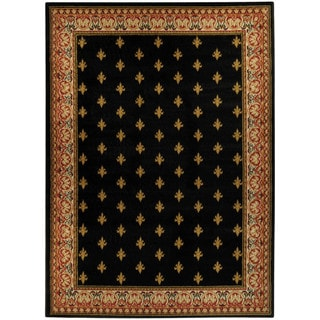 Ephesus Collection Black French Border Area Rug (3'3 x 4'7)