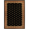 "Black French Border 3'3"" x 4'7"" Area Rug Ephesus Collection"
