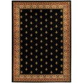 "Black French Border 8'2"" x 9'10"" Area Rug Ephesus Collection"
