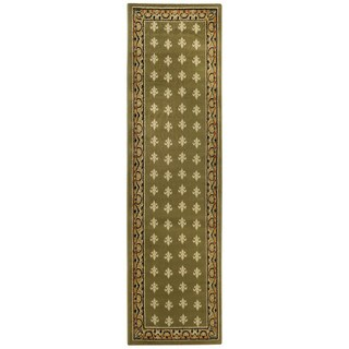 Ephesus Collection Sage Green French Border Runner Rug (1'10 x 6'10)