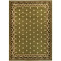 "Sage Green French Border 4'10"" x 6'10"" Area Rug Ephesus Collection"