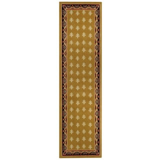 Ephesus Collection Gold Yellow French Border Runner Rug (1'10 x 6'10)