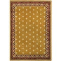 Ephesus Collection Gold Yellow French Border Area Rug (3'3 x 4'7)
