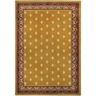 Gold Yellow French Border Area Rug (4'10 x 6'10)