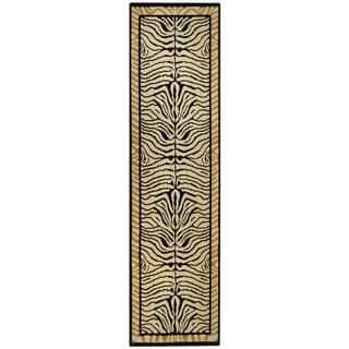 Ephesus Collection Animal Zebra Print Contemporary Runner Rug (1'10 x 6'10)
