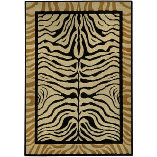 Ephesus Collection Animal Zebra Print Contemporary Area Rug (4'10 x 6'10)
