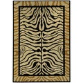 "Animal Zebra Print Contemporary 8'2"" x 9'10"" Area Rug Ephesus Collection"