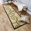 "Ivory Tribal Filigree Contemporary 1'10"" x 6'10"" Runner Rug Ephesus Collection"
