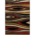 Ephesus Collection Multicolor Tree Wave Contemporary Area Rug (3'3 x 4'7)