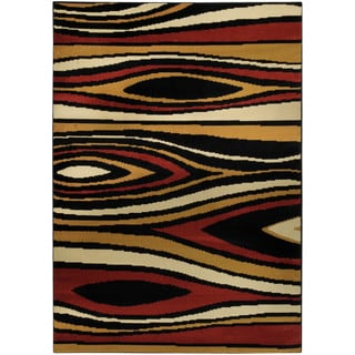 Ephesus Collection Multicolor Tree Wave Contemporary Area Rug (4'10 x 6'10)