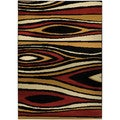 Ephesus Collection Multicolor Tree Wave Contemporary Area Rug (8'2 x 9'10)