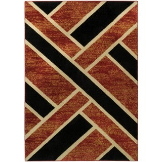 Ephesus Collection Geometric Tetris Squares Area Rug (4'10 x 6'10)
