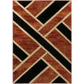 "Geometric Tetris Squares 8'2"" x 9'10"" Area Rug Ephesus Collection"