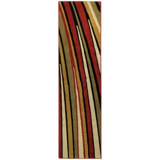 Ephesus Collection Multicolor Stripes Contemporary Runner Rug (1'10 x 6'10)
