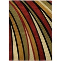 "Multicolor Stripes Contemporary 8'2"" x 9'10"" Area Rug Ephesus Collection"