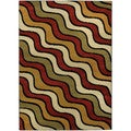 Ephesus Collection Multicolor Waves Contemporary Area Rug (8'2 x 9'10)