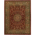 "Medallion Traditional Red 5'3"" x 6'11"" Area Rug Pasha Collection"