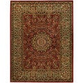 Pasha Collection Medallion Traditional Red Area Rug (7'10 x 10'6)