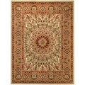 "Medallion Traditional Ivory 5'3"" x 6'11"" Area Rug Pasha Collection"