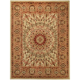 Pasha Collection Medallion Traditional Ivory Area Rug (7'10 x 10'6)