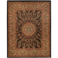 "Medallion Traditional Black 3'3"" x 5' Area Rug Pasha Collection"