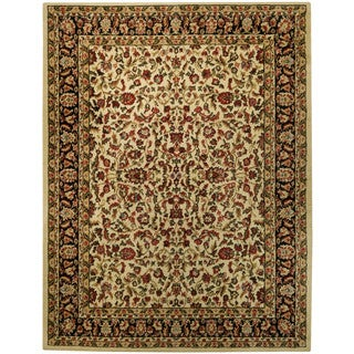 "Traditional Floral Garden Ivory 5'3"" x 6'11"" Area Rug Pasha Collection"