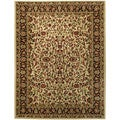 Pasha Collection Traditional Floral Garden Ivory 5'3 x 6'11 Area Rug