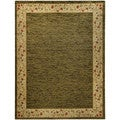 "Solid French Border Sage Green 5'3"" x 6'11"" Area Rug Pasha Collection"