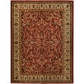 Pasha Collection Traditional Floral Garden Red 5'3 x 6'11 Area Rug