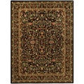"Traditional Floral Garden Black 5'3"" x 6'11"" Area Rug Pasha Collection"
