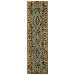 Pasha Collection Traditional Floral Garden Ocean Blue 1'11 x 6'11 Runner Rug
