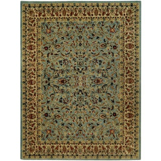 "Traditional Floral Garden Ocean Blue 3'3"" x 5' Area Rug Pasha Collection"