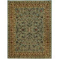 Pasha Collection Traditional Floral Garden Ocean Blue 5'3 x 6'11 Area Rug