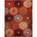Floral Lake Red Contemporary Area Rug (7'10 x 10'6)