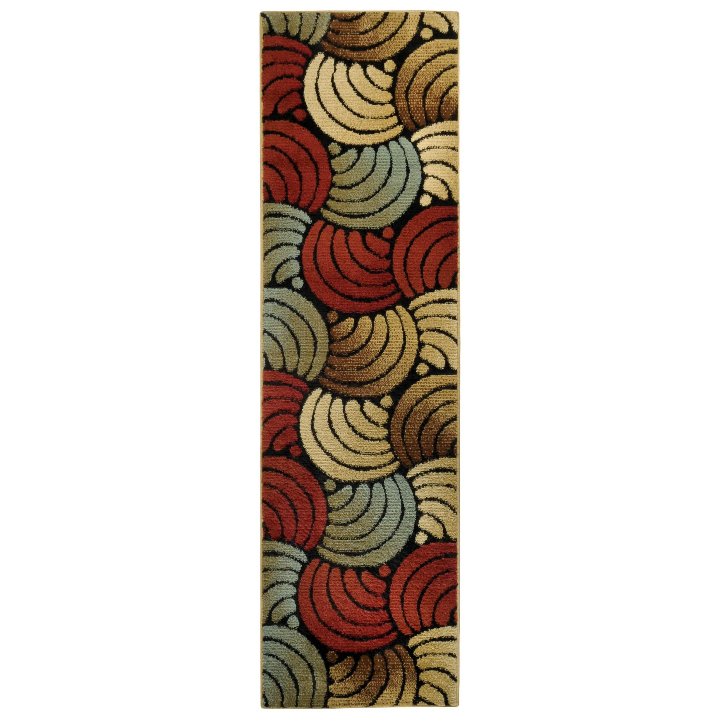 Multicolored Floral Rose Rug (111 X 611 Runner)