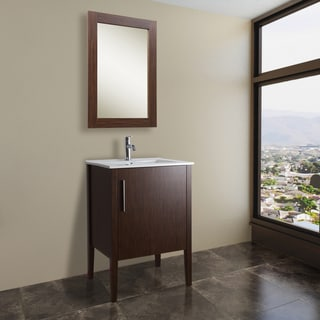 VIGO 24-inch Maxine Single Bathroom Vanity with Mirror