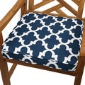 Scalloped Navy 20-inch Indoor/ Outdoor Corded Chair Cushion