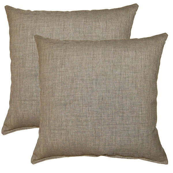 Gridlock Birch 17-in Throw Pillows (Set of 2)