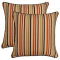 Dockside Cinnamon 17-in Throw Pillows (Set of 2)