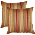 Trickster Red 17-in Throw Pillows (Set of 2)