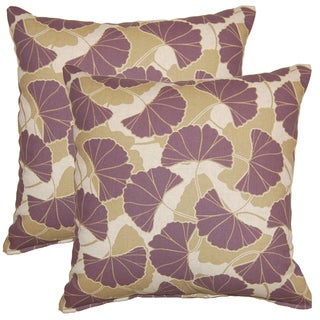 Ginko Plum 17-in Throw Pillows (Set of 2)
