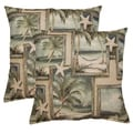 Sandals Sea 17-in Throw Pillows (Set of 2)
