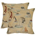 Sailing Blue 17-in Throw Pillows (Set of 2)