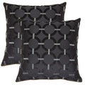 Unbridled Black 19-in Throw Pillows (Set of 2)