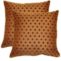Glimpse Cocoa 17-in Throw Pillows (Set of 2)