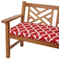 Scalloped Red 48-inch Indoor/ Outdoor Corded Bench Cushion